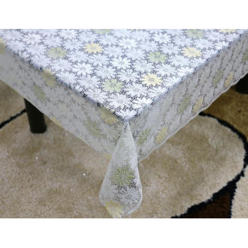 Printed pvc lace tablecloth by roll square