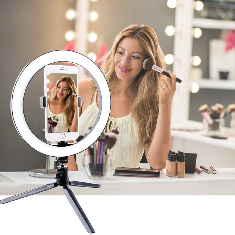 Led Selfie Fill Ring Light 26CM Tripod Stand Photo Photography Lighting Phone Ringlight Lamp For Youtube Live