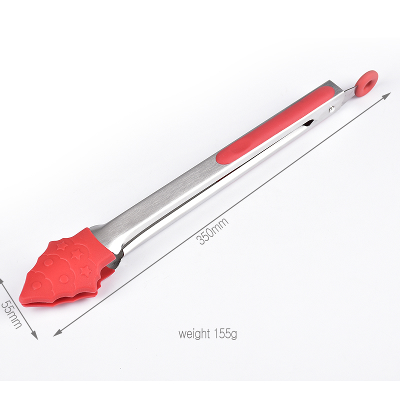 Christmas silicone kitchen tongs