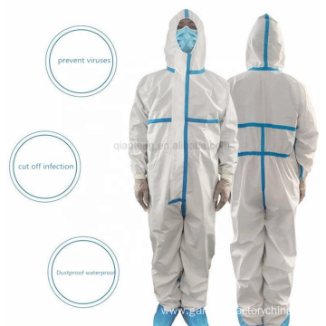 Disposable Chemical Safety Waterproof Hazmat Coverall Suit