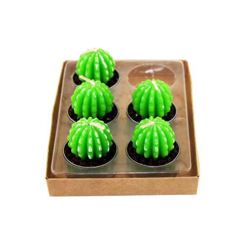 Paraffin Wax Decoration Cactus Candle Set Factory