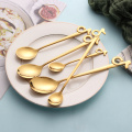 stainless steel spoon cute  music stirring spoon