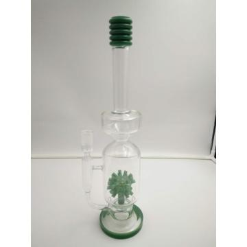 Excellent Double Chamber Glass Bongs with Fancy Percolators