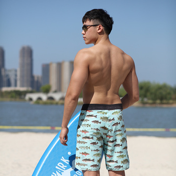 160GSM 4way Stretch Digital Print Man′s Boardshorts