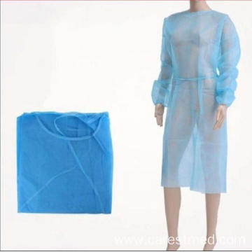 Disposable Isolation Gown  PP/PP+PE/SMS Non Woven Material