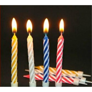 Birthday Party Rainbow Color Spiral Candles