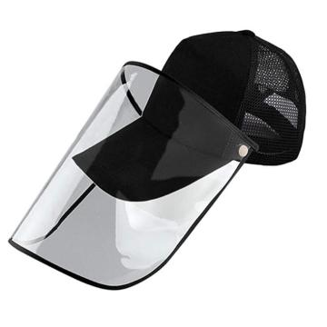 Basketball cap protective faceshield mask