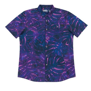 Latest Men's woven poly spandex shirt