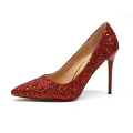 Red Sequins Women's High Heel Shoes