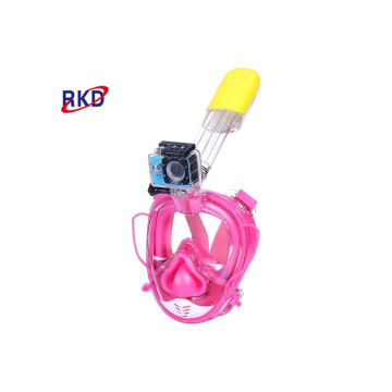 CE ROHS Full Face Snorkel Mask with cameta mount
