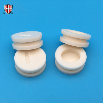 dry casting polished surface alumina ceramic wheel roller