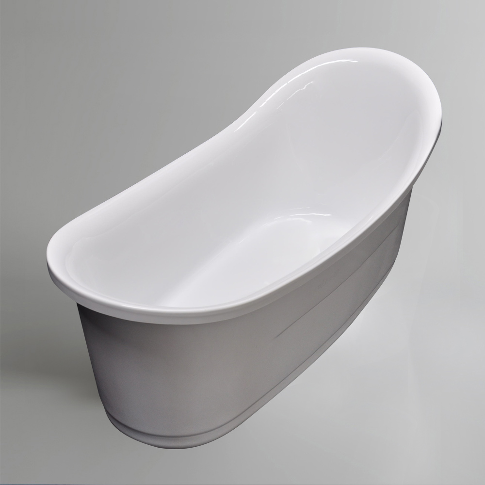"Ellipse Freestanding Acrylic Tub ""Thin Edge"" Bathtub"