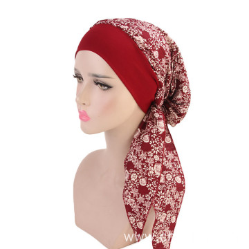 Long pattern turban for women custom bandanas hat
