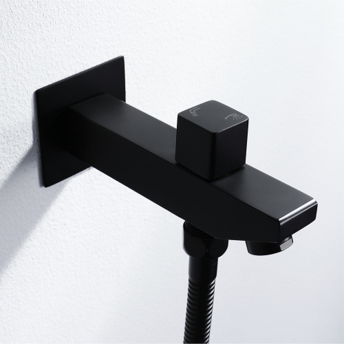 Thermostatic Black Rain and Waterfall Shower Faucet Set
