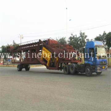 75 Hot Mobile Concrete Batching Machinery