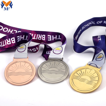Personalized custom sports medals set