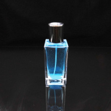 Men spray 50ml square clear glass perfume bottle