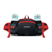 Good Quality Adjustable Waist Belt Outdoor Sports  Polyester Waist Bag With Two Bottle Holders