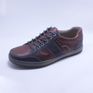 Leather TPR Outsole Lace-up Men's Shoes