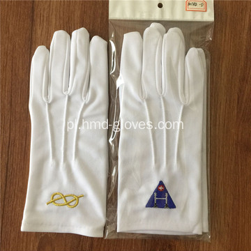 Białe masońskie Gants for Freemasons