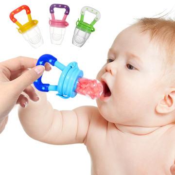 Baby Nipple Fresh Food Fruit Milk Feeding Bottles Nibbler Learn Feeding Drinking Water Straw Handle Teething Pacifier