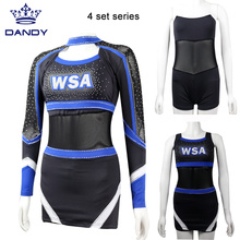 4 Pieces Cheer Crop Top Uniformen