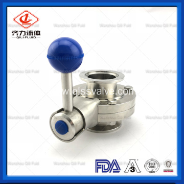 Stainless Steel 304 316L Tri Clamp Manual Sanitary Butterfly Valve