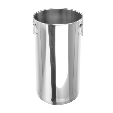 Stainless Steel Oblique Style Straight Pearl Tea Pail Active Ears