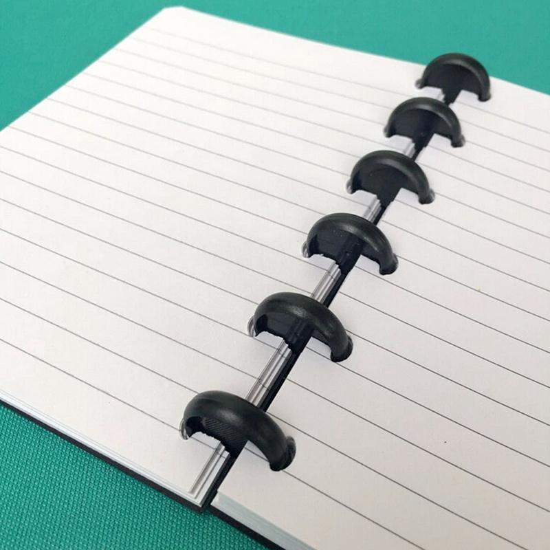 10Pcs/Pack T Mushroom Hole Disc-binding Loose Book Binding Ring Disc Arc Binding Notebook Arc Binding Notebook Office Supplies