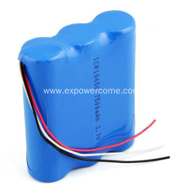 18650 1S3P 3.7V 7500mAh Lithium Ion Battery Pack