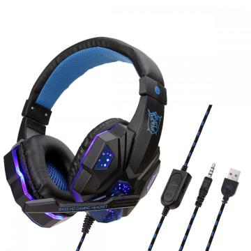 gaming headset RGB lights headset gaming 7.1 cheap headphone for ps4 USB plug gaming headphone with mic in stock