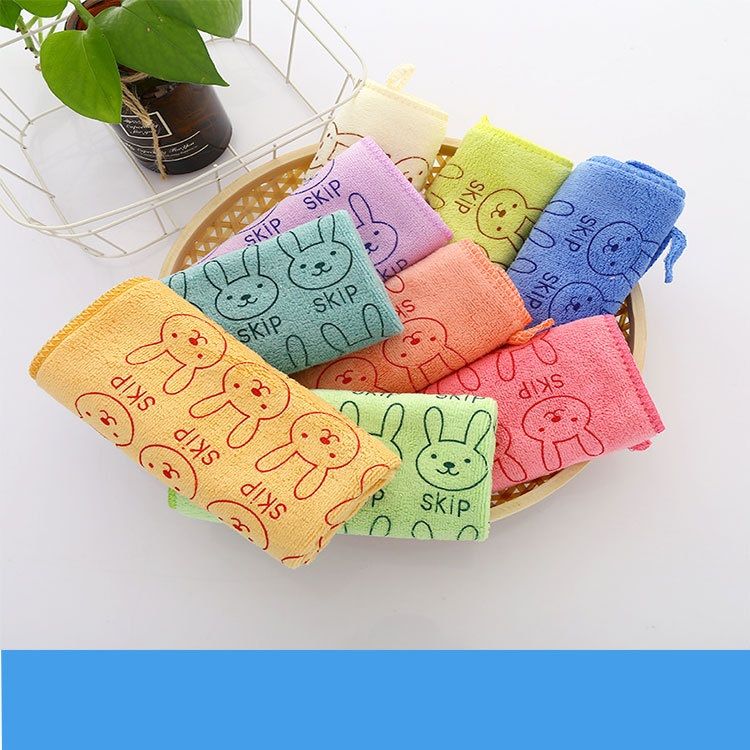 Nano microfiber square towel hand towel face towel child towel kindergarten gift 2525 activity gift (10)