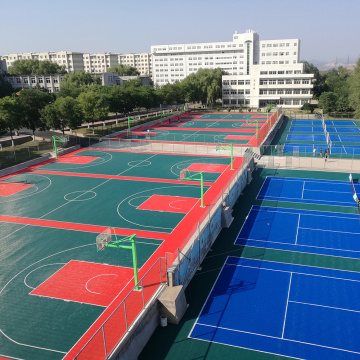 Enlio Suspended PP court tile for netball court