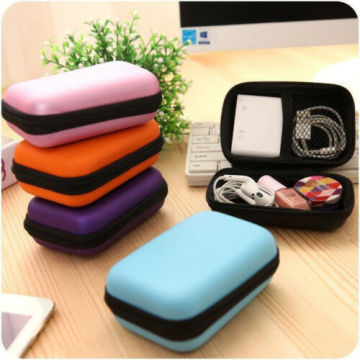 Organization Portable Storage Bag Hard Hold Case For Earphone Headphone Earbuds Mp3 USB Cable Stuff Solid Red Mini Storage Box