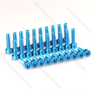 High quality Aluminum Anodized Black Hex cap Screw
