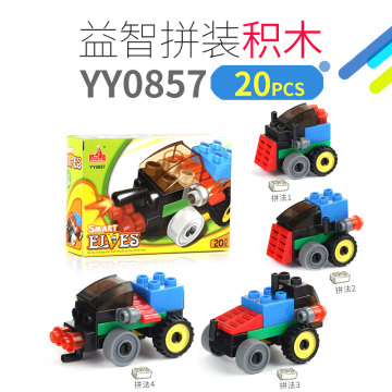 Educational Building Blocks Cars Toy