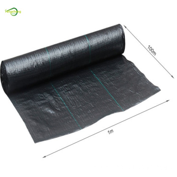 black weed control mat