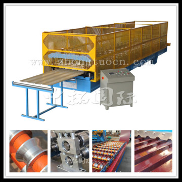 Steel metal trapezoid sheet roll forming machine