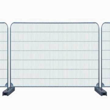 Hot dipped galvanized barrier temporary fencing