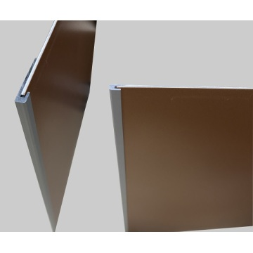 Aluminum wall panel trim