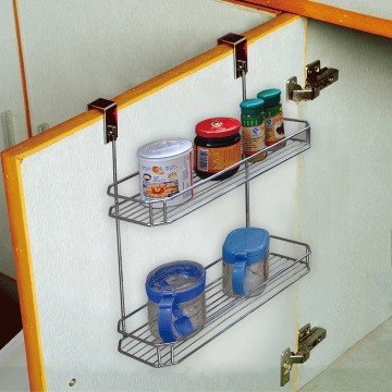 over the cabinet basket holder