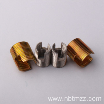 302 threaded inserts with cutting bores