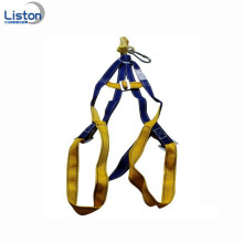 Construction Safety Harness with Rope Lanyard