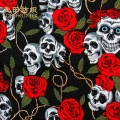 best selling 100% cotton printed fabric skulled heads