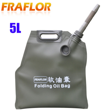 5L Liter Portable Car Motorcycle Soft Oil Bag Bladder Off-road Petrol Cans Spare Oil Storage Fuel Tank Gasoline Bucket Jerry Can