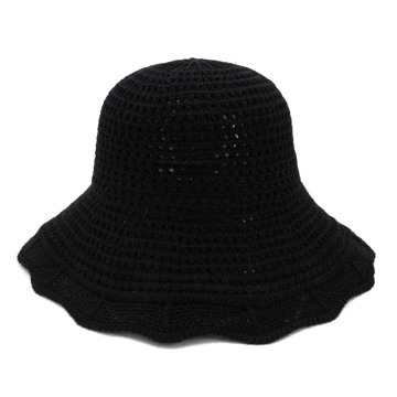 Fashion bucket straw hat outing fishing cap