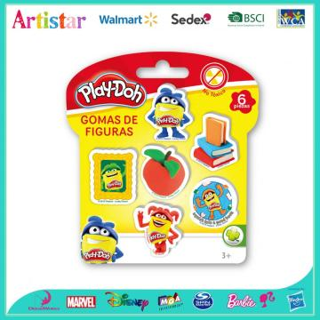 Play-Doh 6-piece eraser set