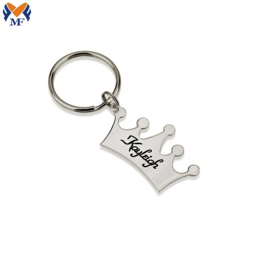 Metal custom crown keychain princess