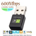 kebidu New Version Network Card Free Driver 600Mbps Wireless USB Wifi Adapter Receiver 2.4+5 Ghz USB Wifi 802.11n/g/b For PC