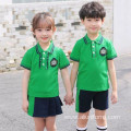 Boy Girl Sports Wear Polo Shirts Set Primary School Uniform